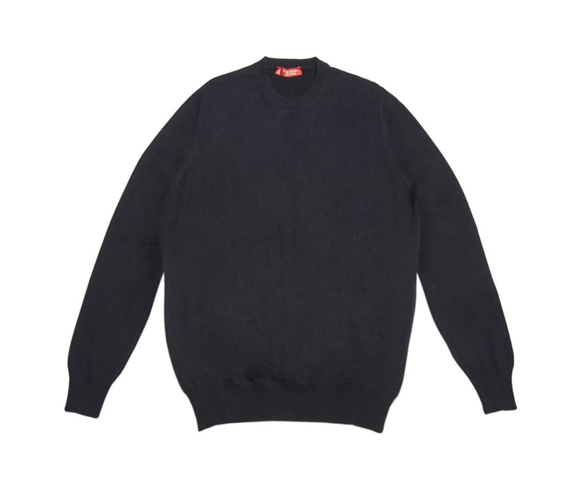 Blue Cashmere Crew Neck Sweater