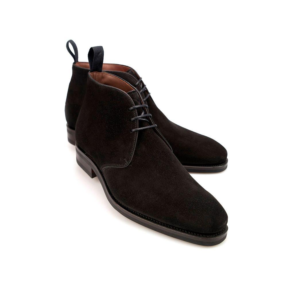 Carmina Black Suede Chukka Boots | The Rake