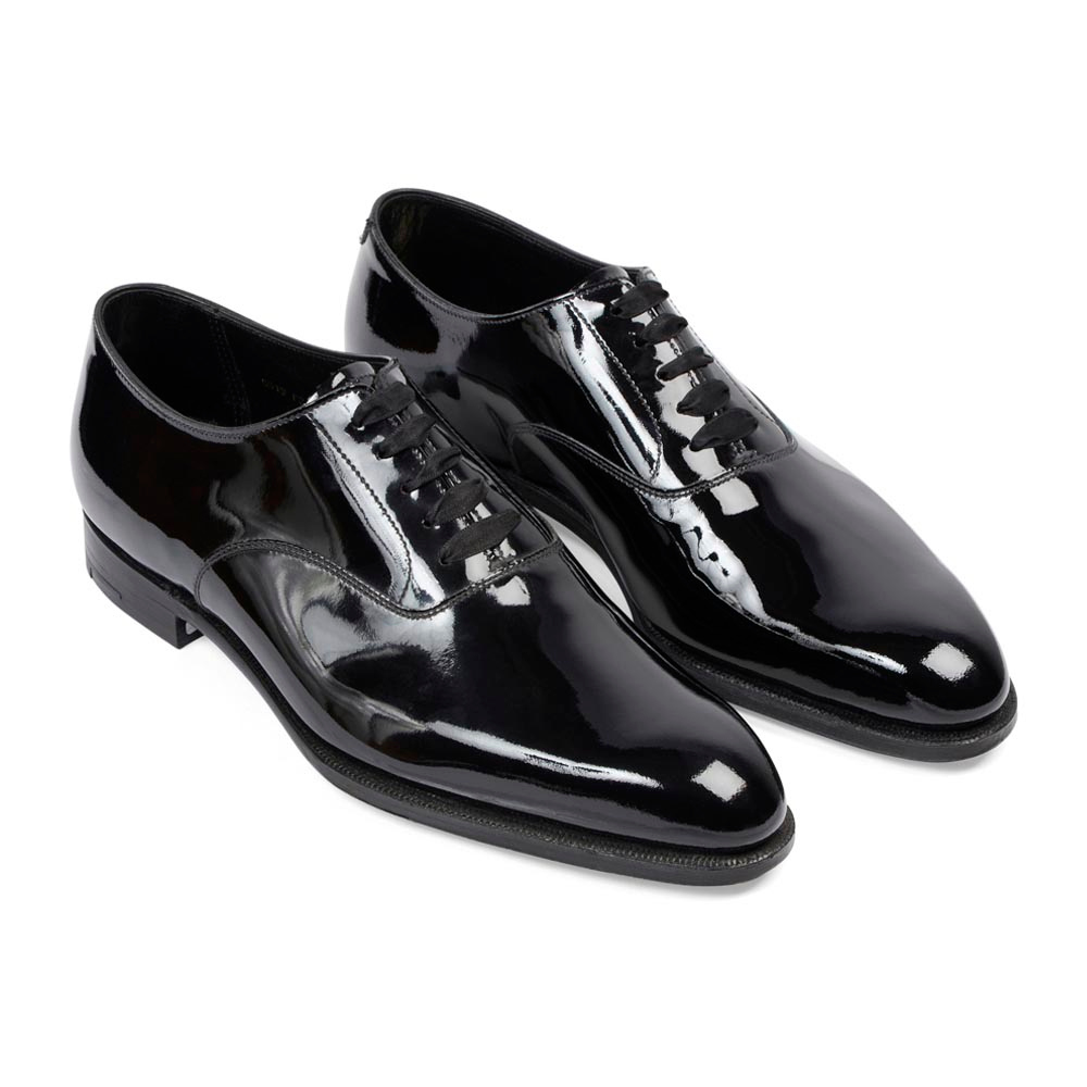 cheap black patent leather work shoes