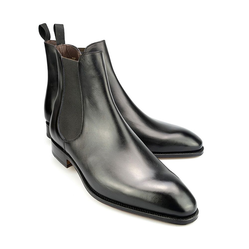 Carmina Black Leather Chelsea Boots The Rake