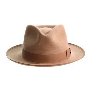 Taupe Fur Felt Alfred Trilby Hat