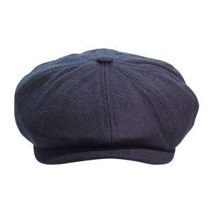 Black Loden Brooklyn Newsboy Cap
