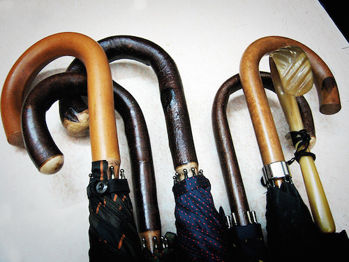 Bespoke umbrella       handles, The Rake