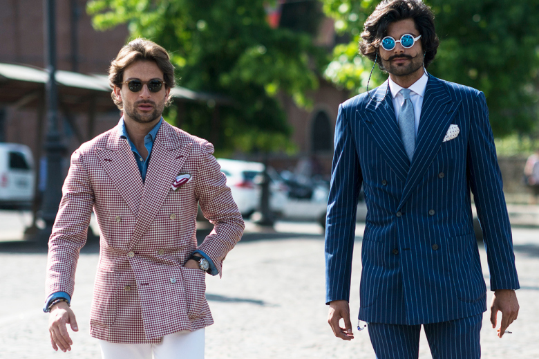 Pitti     Uomo Streetstyle Suits, The Rake