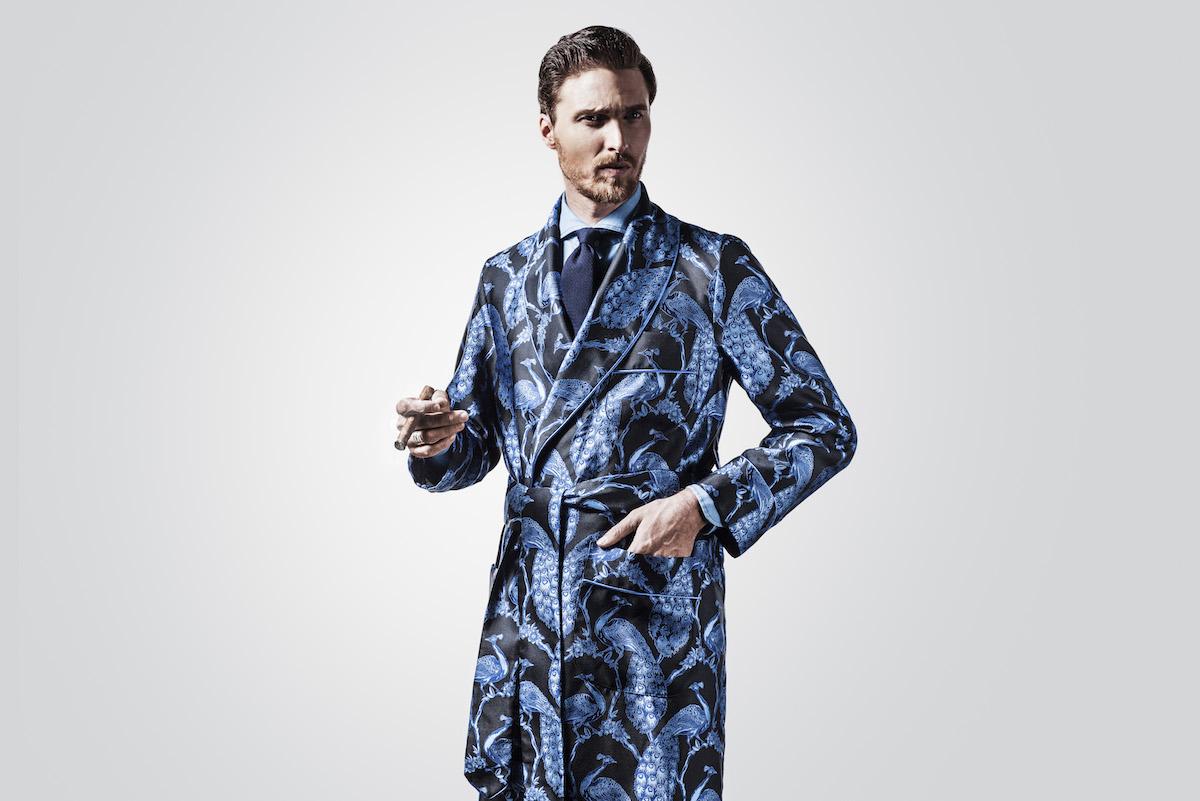 New Lingwood For The Rake Silk Jacquard Dressing Gowns The Rake