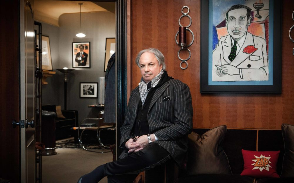 Alan       Flusser photographed by Rose Callahan on April 10, 2018